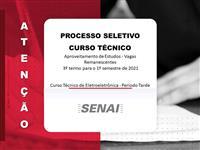 PROCESSO SELETIVO - CURSO TÉCNICO DE ELETROELETRÔNICA